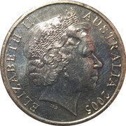 20 Cents - Elizabeth II (Fin de la IIème Guerre mondiale) -  avers