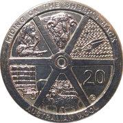 20 Cents - Elizabeth II (Australian Wool) – revers