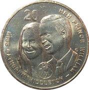 20 Cents - Elizabeth II (Royal Wedding) -  revers