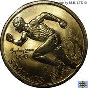 5 dollars JO 2000 Athlétisme -  revers