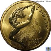 5 dollars JO 2000 Gymnastique -  revers