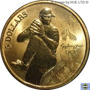 5 dollars JO 2000 Baseball -  revers