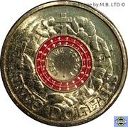 2 Dollars - Elizabeth II (Anzac Day - War Graves) – revers
