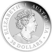 "30 Dollars - Elizabeth II ""Kookaburra"" Silver Bullion -  avers"