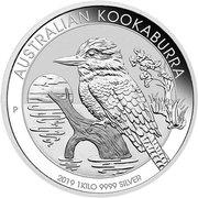 "30 Dollars - Elizabeth II ""Kookaburra"" Silver Bullion -  revers"