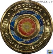 2 dollars - Elizabeth II (Flamme éternelle) -  revers