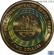 2 Dollars - Elizabeth II (XXI Commonwealth Games - Team Logo) -  revers