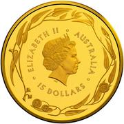 15 Dollars - Elizabeth II (4th Portrait - Gold Bullion Coin) -  avers