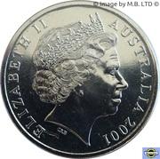 20 Cents - Elizabeth II (Centenaire de la Fédération - Île Norfolk) – avers