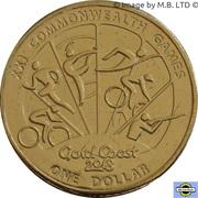 1 Dollar - Elizabeth II (XXI Commonwealth Games) -  revers