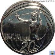 20 Cents - Elizabeth II (Sauvetage sportif) -  revers