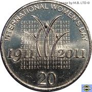 20 cents - Elizabeth II (Journée internationale des femmes) -  revers
