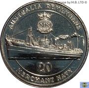 20 Cents - Elizabeth II (Merchant Navy) -  revers