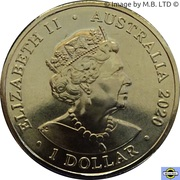 1 Dollar - Elizabeth II (6th portrait - Eureka!) -  avers