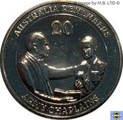 20 Cents - Elizabeth II (Army Chaplains) -  revers