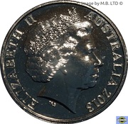 20 Cents - Elizabeth II (25th Anniversary of Parliament House) -  avers