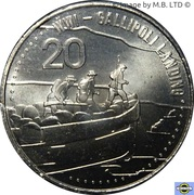 20 Cents - Elizabeth II (Gallipoli Landing) – revers