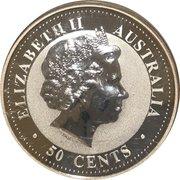 "50 Cents - Elizabeth II ""Lunar Year Series"" Silver Bullion Coinage – avers"