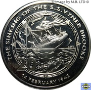 20 Cents - Elizabeth II (Sinking of the S.S. Vyner Brooke) -  revers