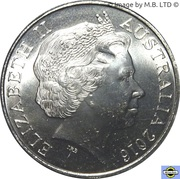 20 Cents - Elizabeth II (Rats of Tobruk) – avers