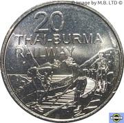 20 Cents - Elizabeth II (Thai-Burma Railway) – revers