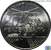 20 Cents - Elizabeth II (Peacekeeping) – revers