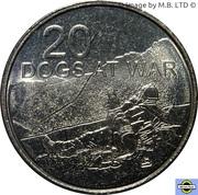 20 Cents - Elizabeth II (Dogs at War) – revers