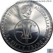 """10 Cents - Elizabeth II (50 ans de la devise """"Decimal"""") -  avers"""