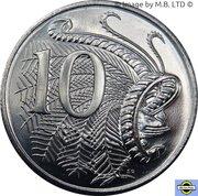 """10 Cents - Elizabeth II (50 ans de la devise """"Decimal"""") -  revers"""
