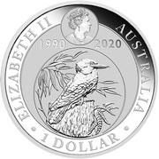1 Dollar - Elizabeth II (6th Portrait - Kookaburra: 30th Anniversary; coloured) -  avers