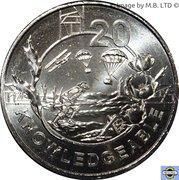 20 Cents - Elizabeth II (Anzac Spirit - Knowledgeable) – revers