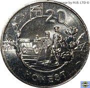 20 Cents - Elizabeth II (Anzac Spirit - Honest) – revers