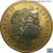 1 Dollar - Elizabeth II (4th portrait; Longfin Bannerfish) -  avers