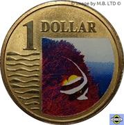 1 Dollar - Elizabeth II (4th portrait; Longfin Bannerfish) -  revers