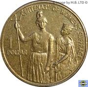 1 dollar - Elizabeth II (Suffrage des femmes) -  revers
