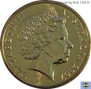 1 Dollar - Elizabeth II 4th Portrait; Australian Peacekeeping -  avers