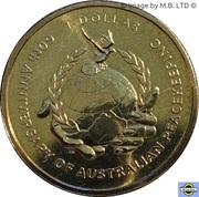 1 Dollar - Elizabeth II 4th Portrait; Australian Peacekeeping -  revers