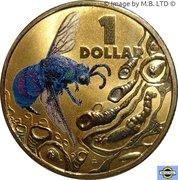 1 Dollar - Elizabeth II (4th portrait; Bright Bug Series - Cuckoo Wasp) – revers