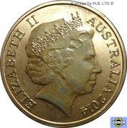 1 Dollar - Elizabeth II (4th portrait; Bright Bug Series - Red Bull Ant) -  avers