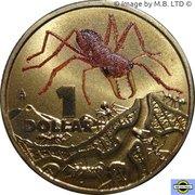 1 Dollar - Elizabeth II (4th portrait; Bright Bug Series - Red Bull Ant) -  revers