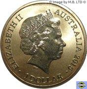 1 Dollar - Elizabeth II (4th portrait; Alphabet Collection - Letter U) – avers