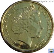 1 Dollar - Elizabeth II (4e portrait; Inspirational Australiens) -  avers