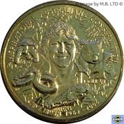 1 Dollar - Elizabeth II (4e portrait; Inspirational Australiens) -  revers