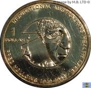1 Dollar - Elizabeth II (4th portrait; Inspirational Australians - Fred Hollows) -  revers