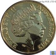 1 Dollar - Elizabeth II (4ème portrait ; Les champs d'or) – avers