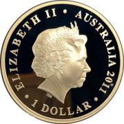 1 Dollar - Elizabeth II (4th Portrait - Royal Australian Navy) -  avers