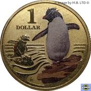 1 Dollar - Elizabeth II (4th portrait; Polar Series - Rock Hopper Penguin) -  avers