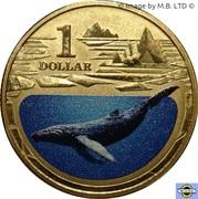 1 Dollar - Elizabeth II (4th portrait; Polar Series - Humpback Whale) -  revers