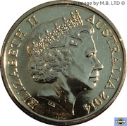 1 Dollar - Elizabeth II (100 Years of ANZAC) -  avers