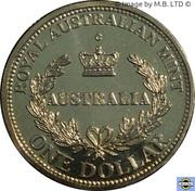 1 Dollar - Elizabeth II (4th Portrait; Australia's First Mints) -  revers
